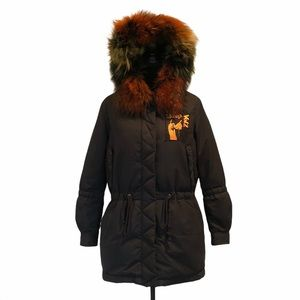 Meri Merimo winter jacket with colorful fur hood
